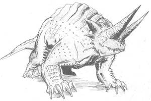 Oryctoceratops Baragoni by Ashere