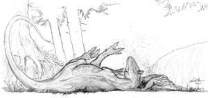 Cryolophosaurus Napping