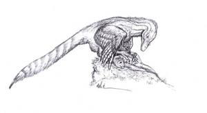Mantling Dromaeosaur