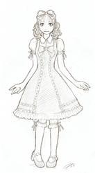 Lolita sketchie by PrincessRiyu