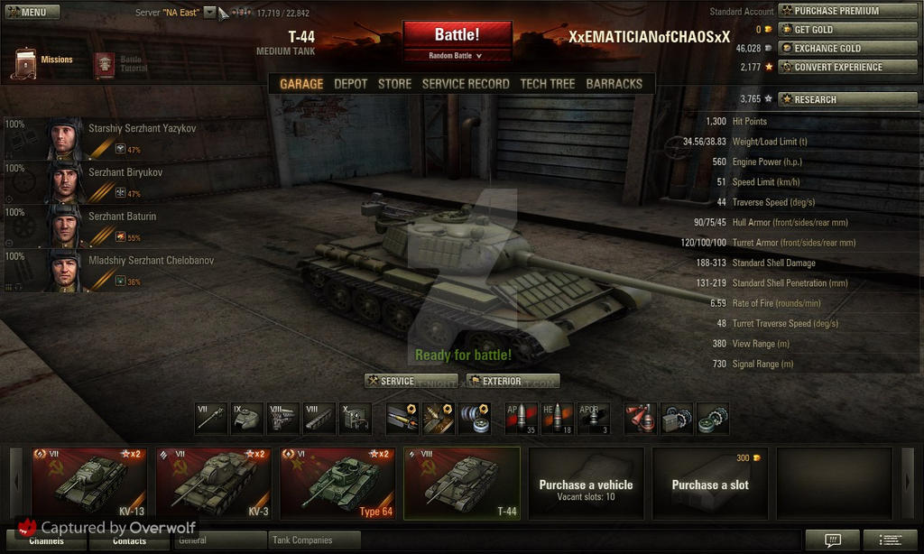 World Of Tanks-T-44 and to an epic crew o7 by x-Silent-Night