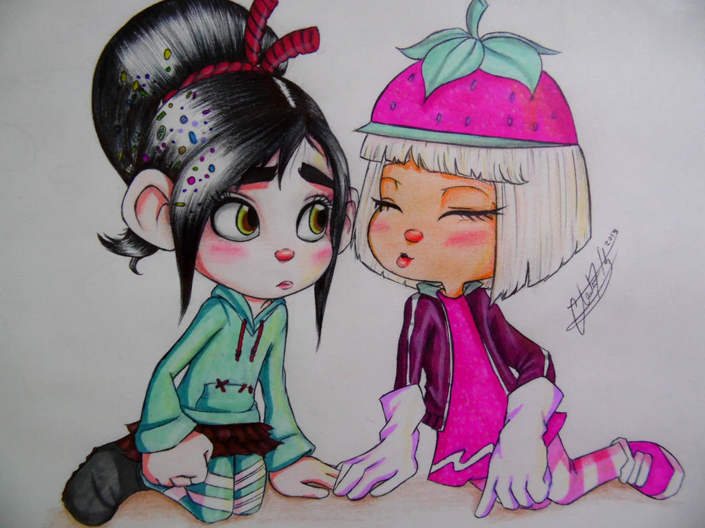 Images For - Taffyta Muttonfudge And Vanellope Von Schweetz KissingVanellope Von Schweetz And Taffyta Kiss