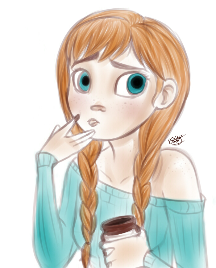 Anna and chocolate by Small-Spark