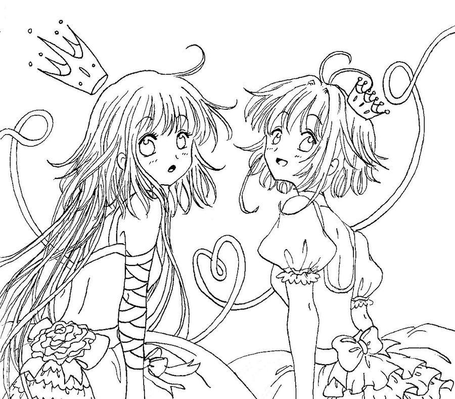 best friends line art by munmunchan on deviantart