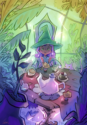 Witchy tea party
