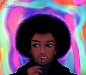 [Comm]: Jimi Hendrix by Pandahyu