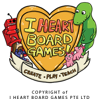 i Heart Board Games Coat of Arms by LunaDarkness
