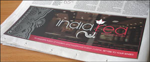India red newspaper ad visual