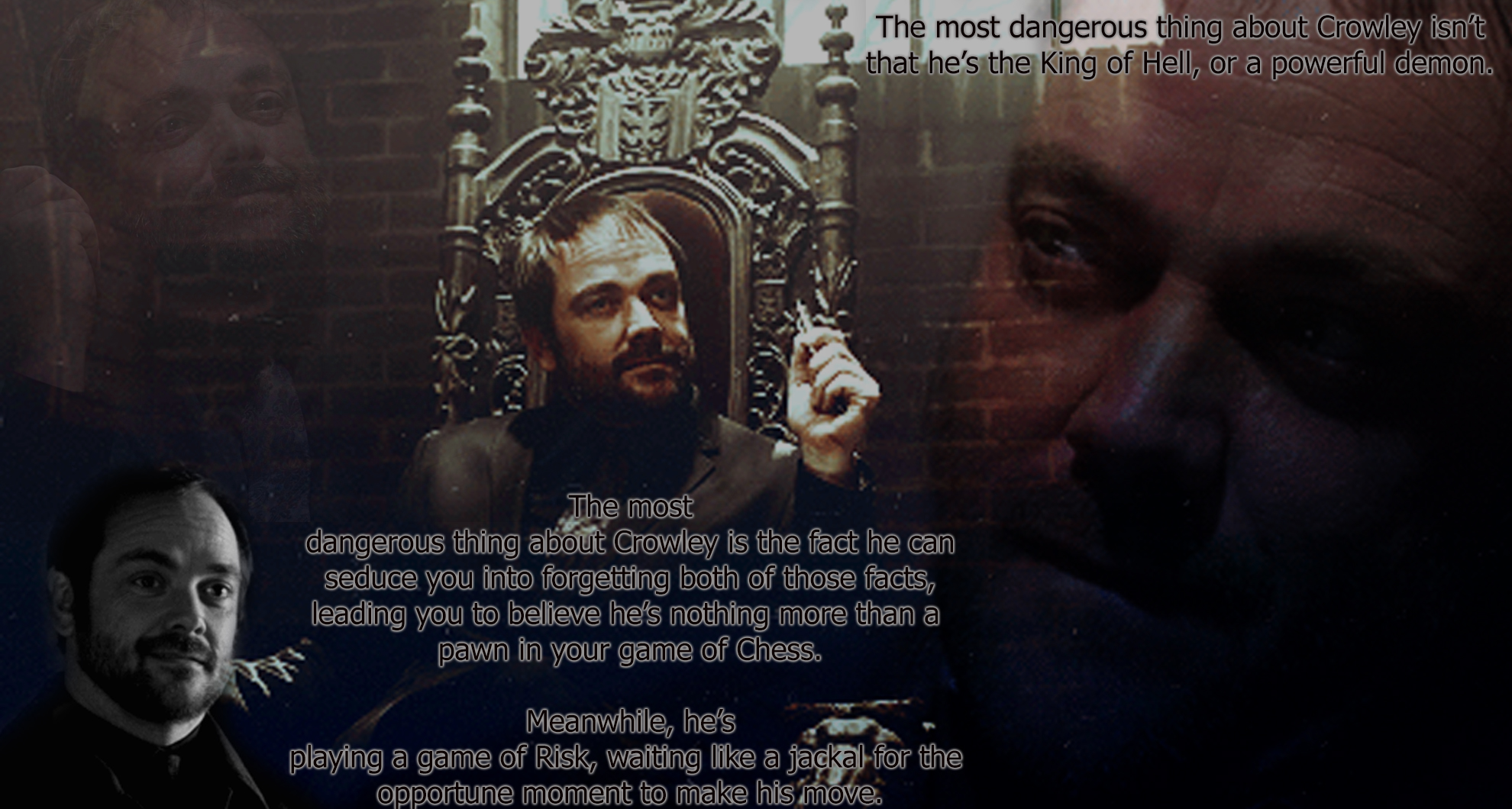 crowley supernatural wallpaper wwwpixsharkcom images