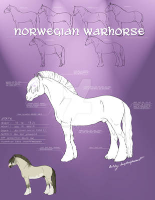 New Norwegian Warhorse Breed Sheet by daughterofthestars