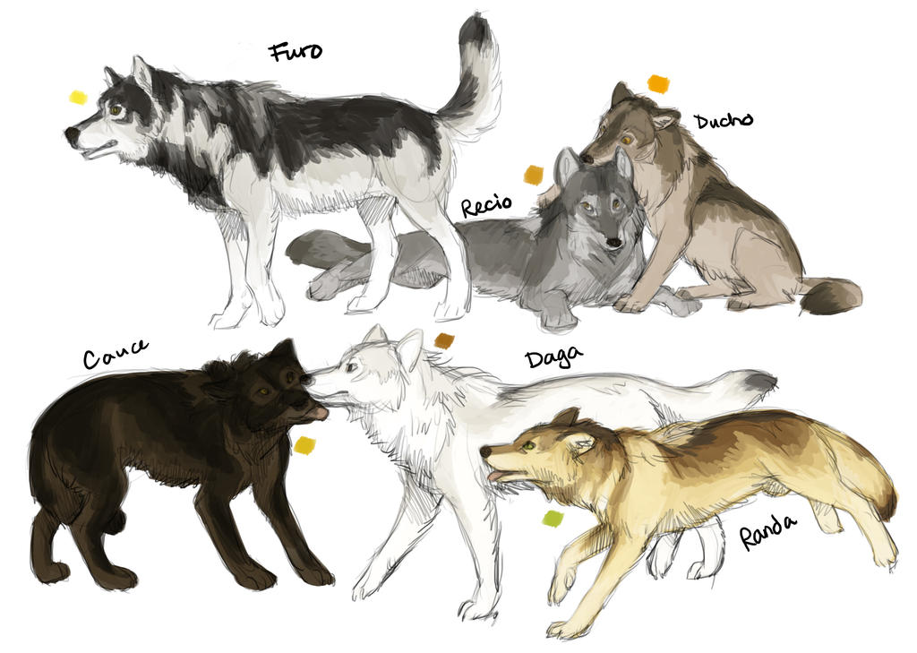 Anime Wolves Mating Coloring Pages