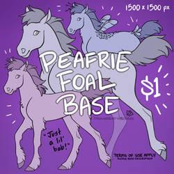 Peafrie Foal Base by daughterofthestars