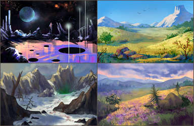 more environment sketches by neonparrot