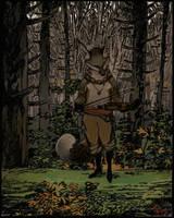 Fiddling Fox by Seyorrol