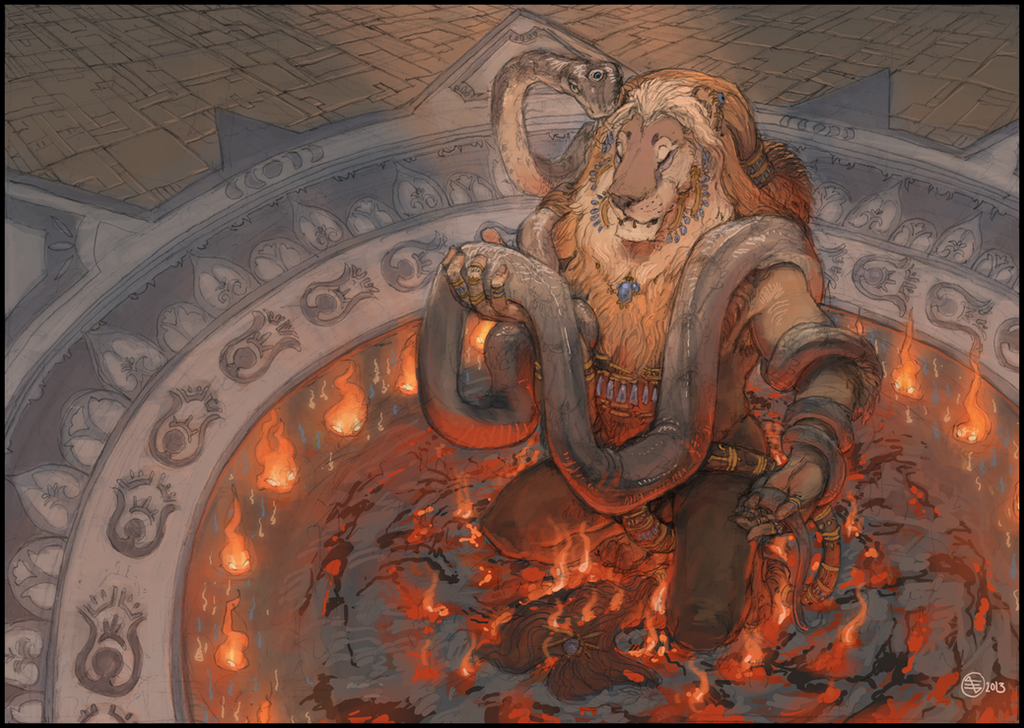 Deviantart Lion Warrior: Whispers_of_the_snake_by_seyorrol-d6sosfw.png
