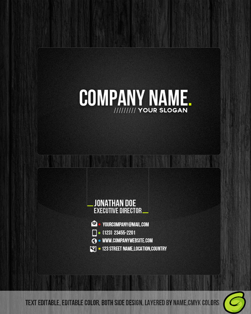 Professional business card free psd template by for Professional business card templates free