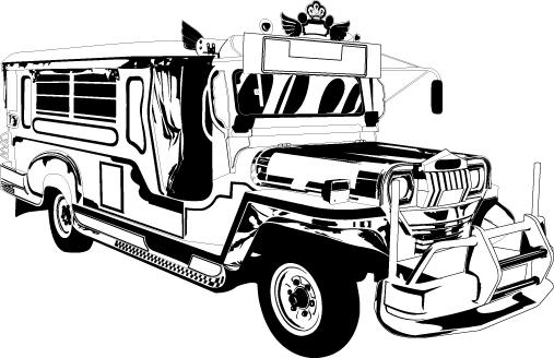 Pictures Of Jeepney Clip Art Black And White Kidskunstinfo