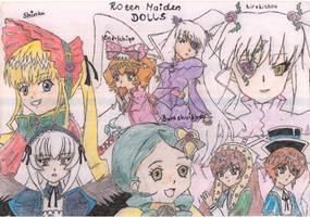 The Rozen Maiden Dolls (very old)