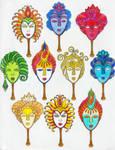 Masks ( Coloring Book #5 )