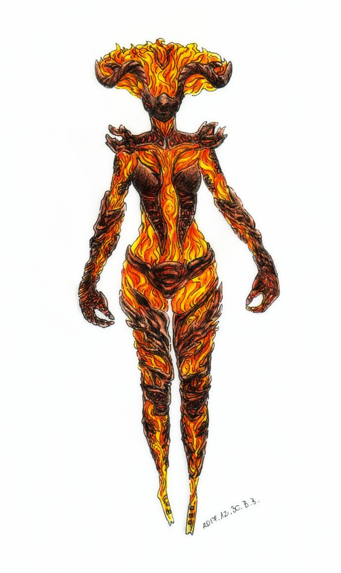 Flame Atronach by epresvanilia