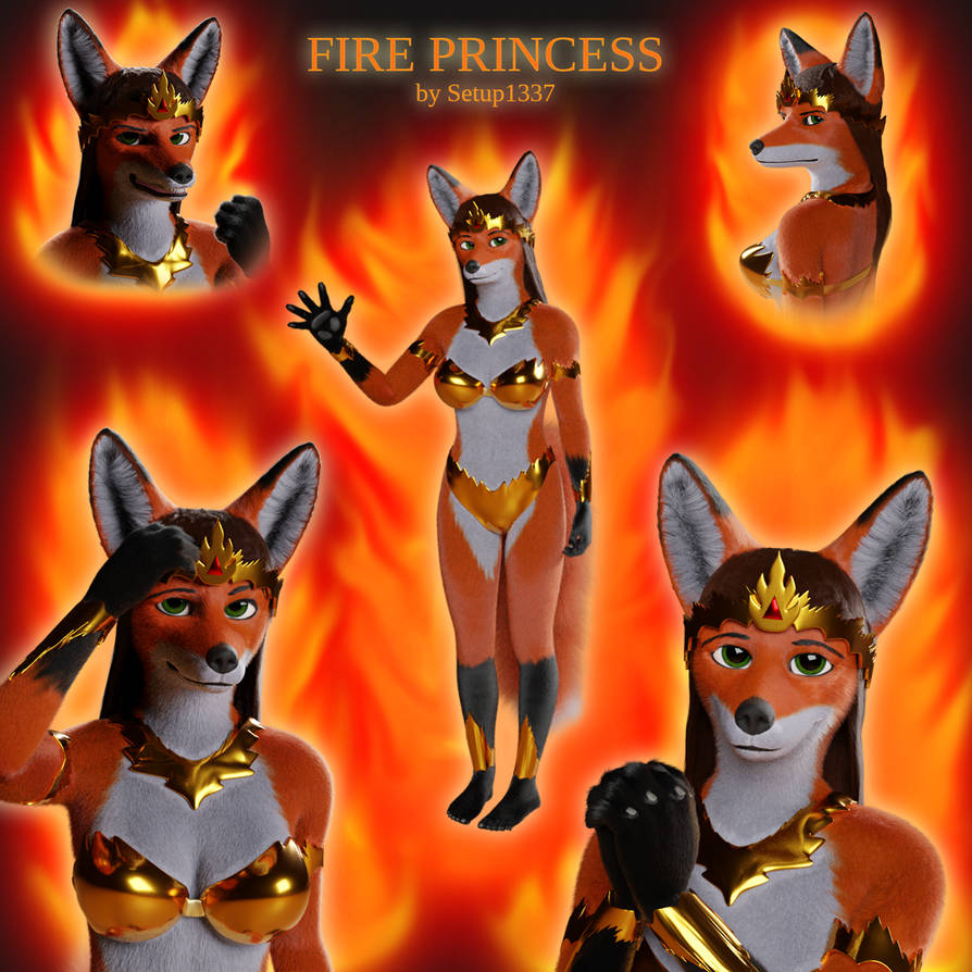 Fire Princess Collage
