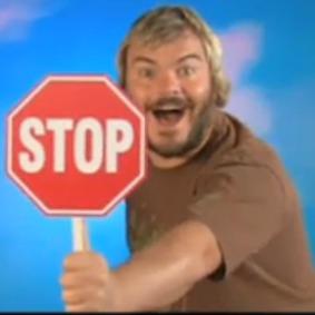 Stop sign Jack Black by Jack Black Stop Sign