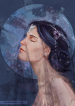 [Study] Moon girl by RoanNna