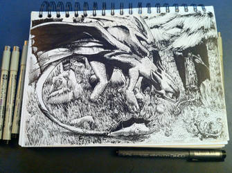 Sketchbook #1: Toothless (HTTYD) by MonoFlax