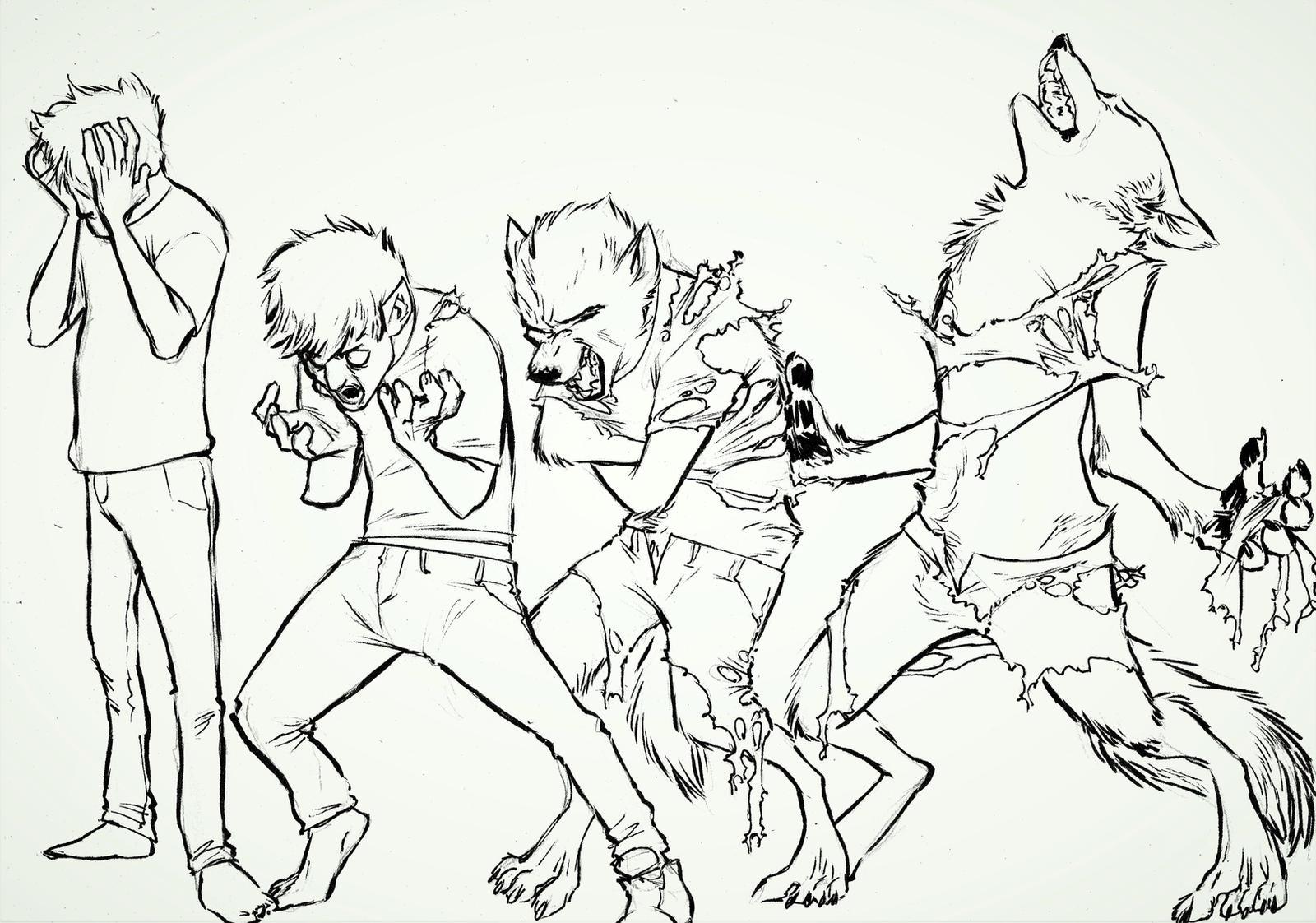 Wolf Transformation Sequence Werewolf TF! by...