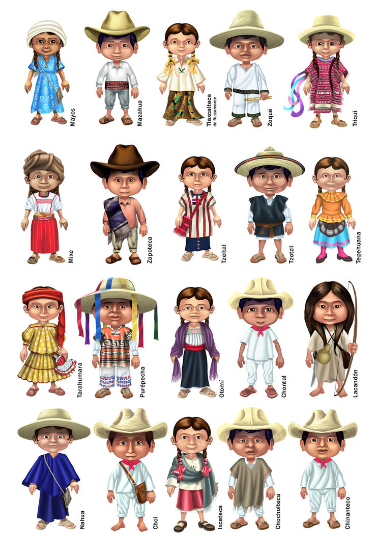 Atuendos de etnias mexicanas by elroyer