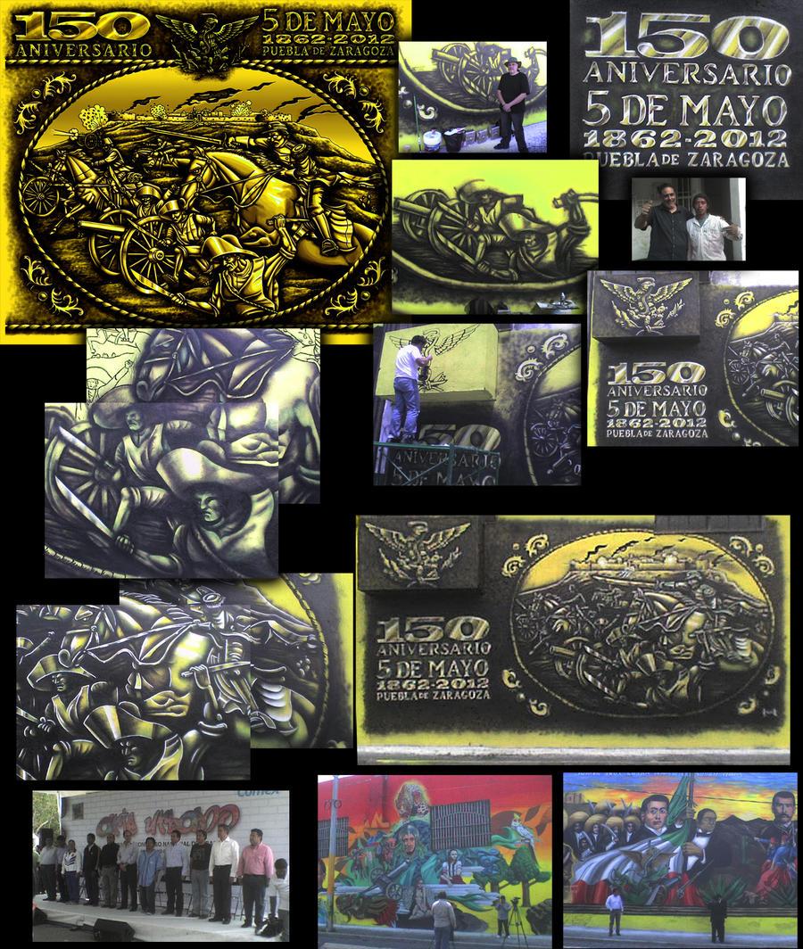 Mural homenaje en puebla by elroyer for El mural restaurante puebla