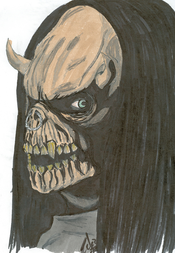 The deathglare of the bull