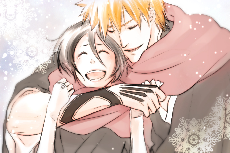 rukias relationship with ichigo and orihime