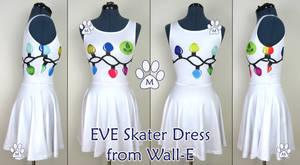 EVE Wall-E Inspired Skater Dress Live Sample