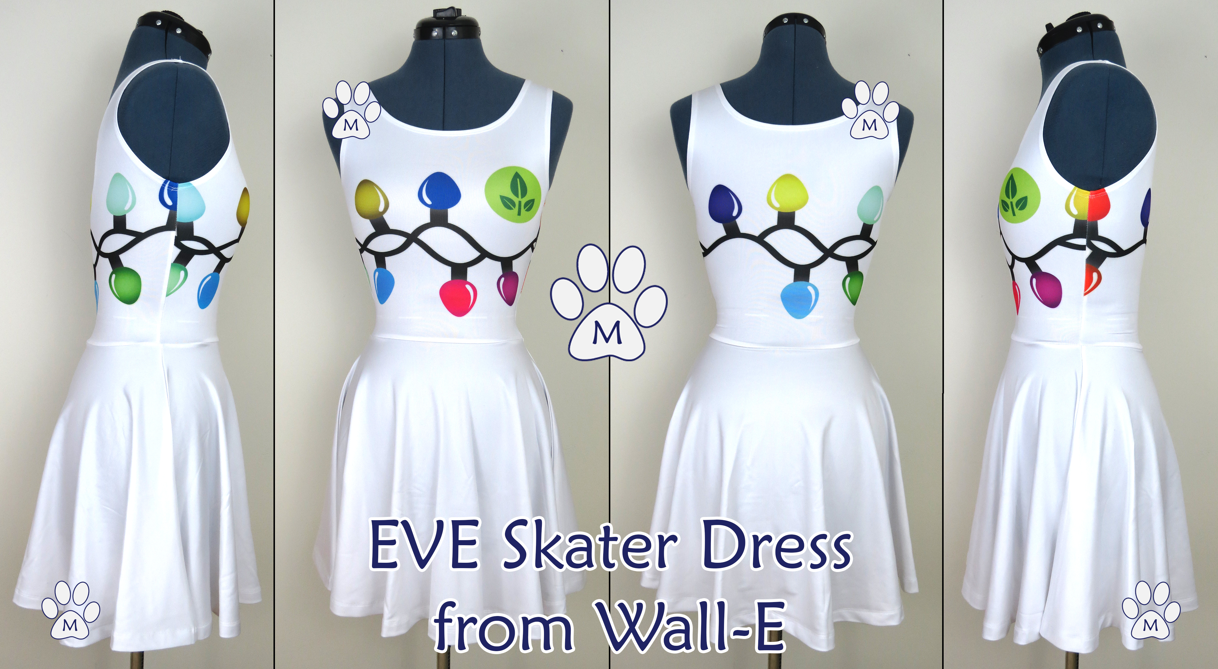 eve walle inspired skater dress live sample by minzmaille
