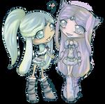 Collab- Neva and Kukiko by PandanaLove