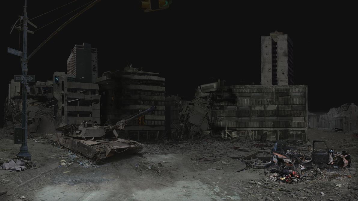 Destroyed City Matte P...
