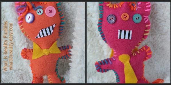 Mullet Monster two-faced felt plush by whatisrealityplush