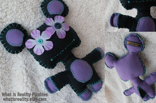 Gus Flower Bright Felt Monster Plush