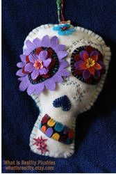 Kathy's Sugarskull Custom Plush Wallhanging