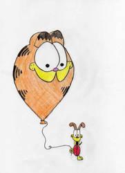Odie and.... garfield? by GarfieldAndFriends