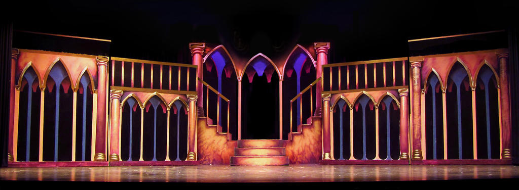 Scenic Design for Beauty and the Beast by yensidtlaw1969 on DeviantArt