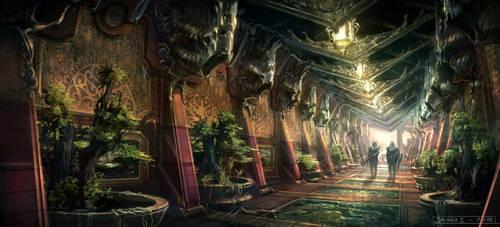 Hallway by Javoraj
