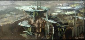 Mountain city sketch