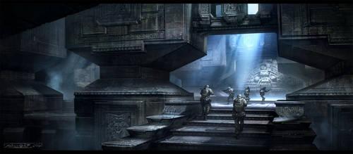 Inside pyramid by Javoraj