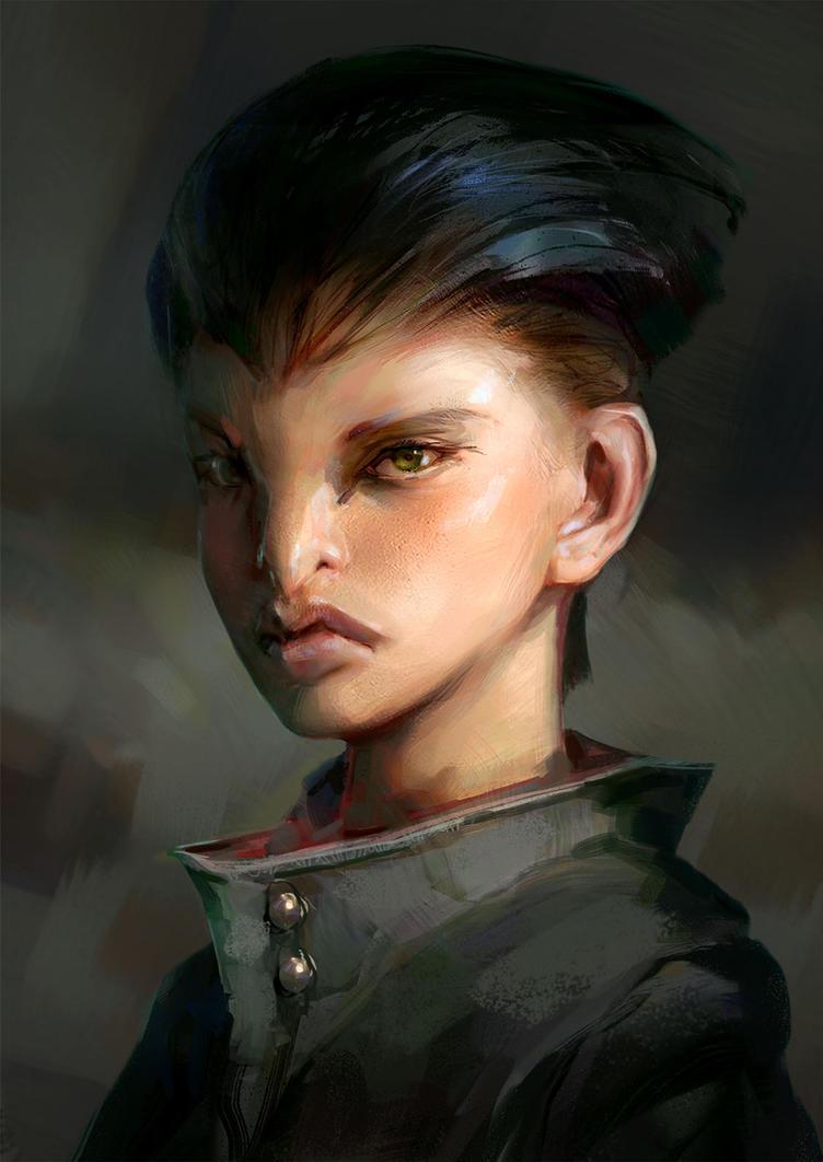 Raven Girl  by Javoraj