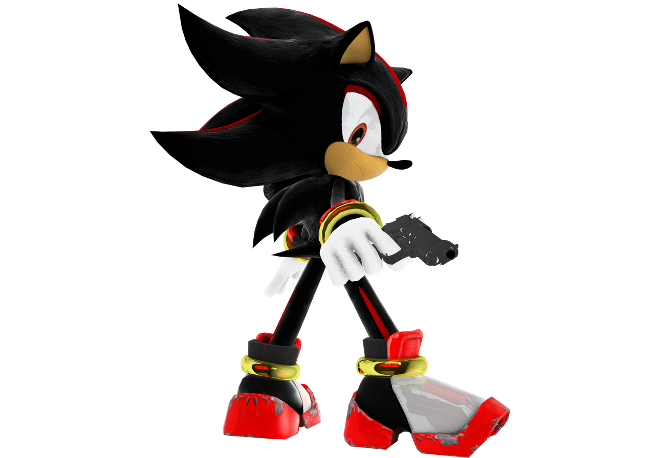 shadow with gun by eggmanteen