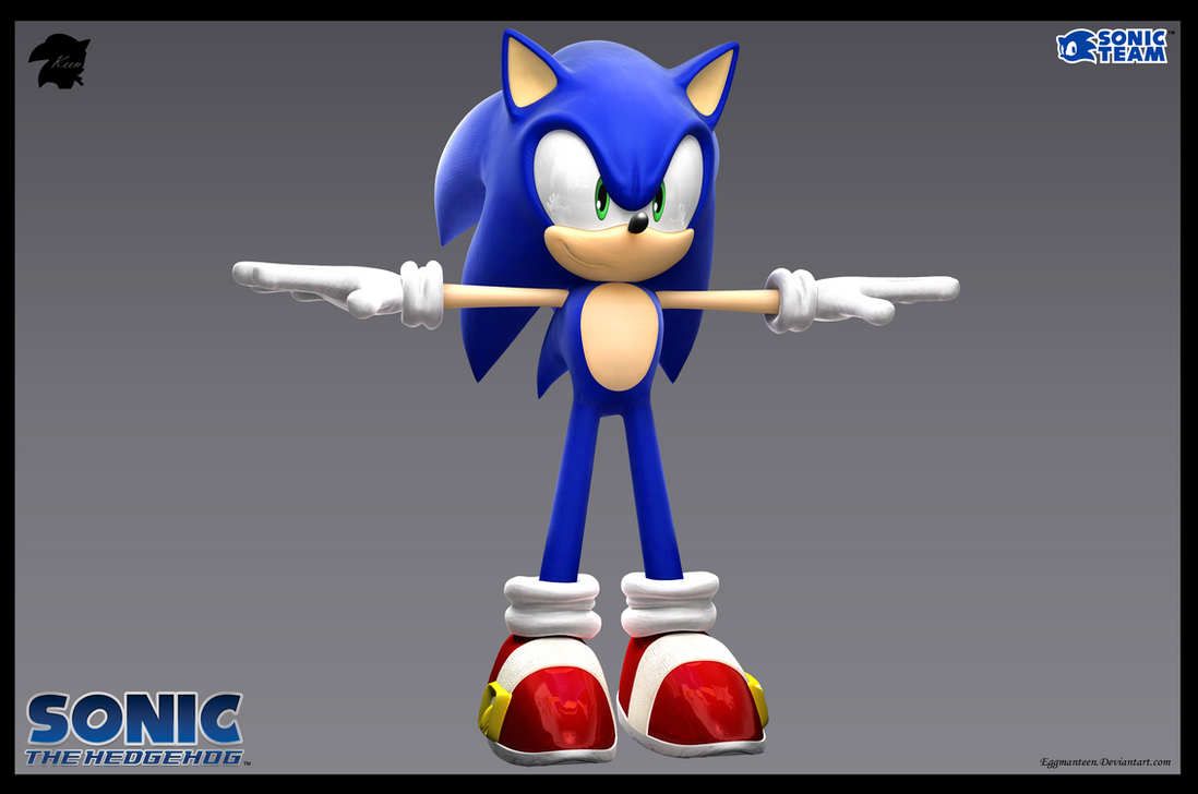 Sonic The Hedgehog 3D Model (final) by eggmanteen