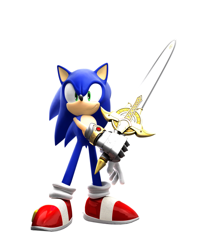 Sonic And The Black Knight (clean render) by eggmanteen