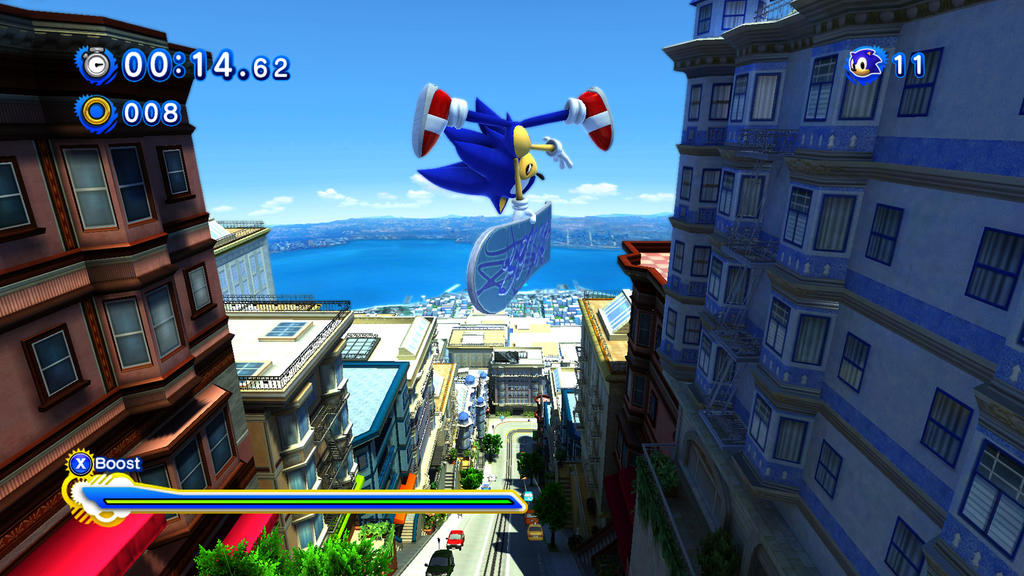 City-escape-modern-sonic by eggmanteen